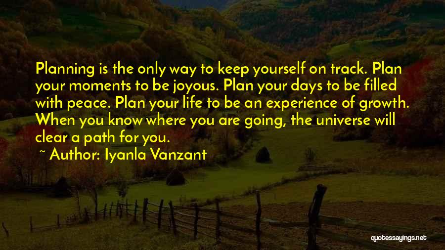 Not Planning Your Life Quotes By Iyanla Vanzant