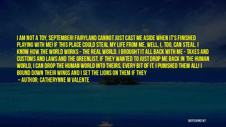 Not Playing It Safe Quotes By Catherynne M Valente