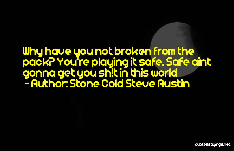Not Playing It Safe Quotes By Stone Cold Steve Austin