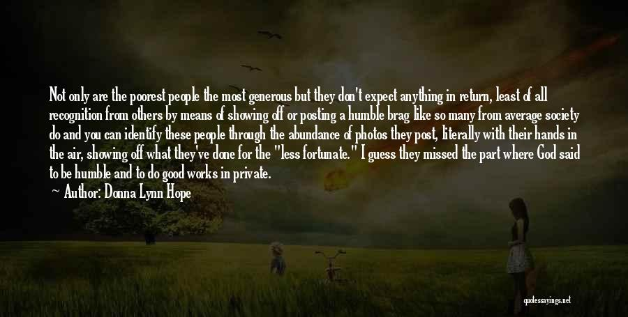 Not Posting Quotes By Donna Lynn Hope