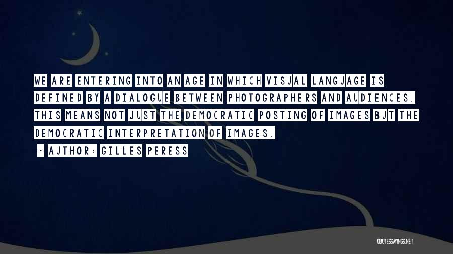 Not Posting Quotes By Gilles Peress