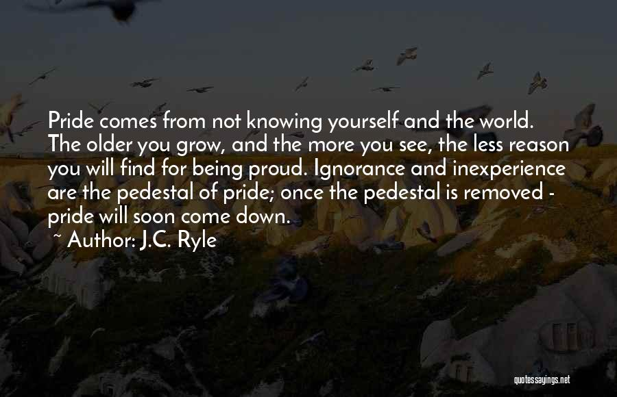 Not Proud Of You Quotes By J.C. Ryle