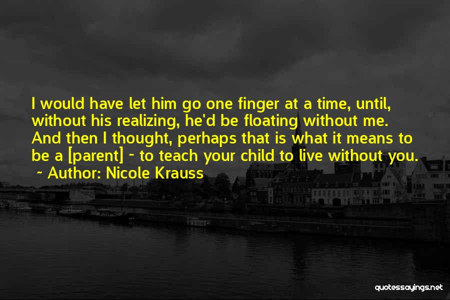 Not Realizing How Much Someone Means To You Quotes By Nicole Krauss