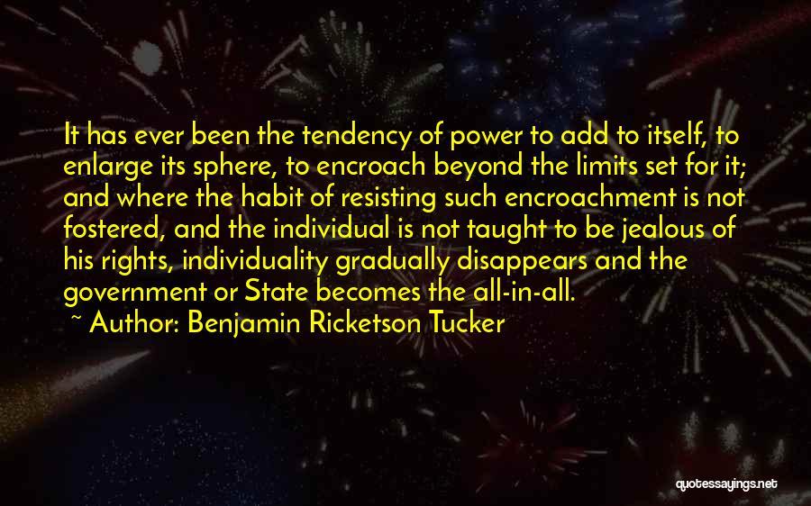 Not Resisting Quotes By Benjamin Ricketson Tucker