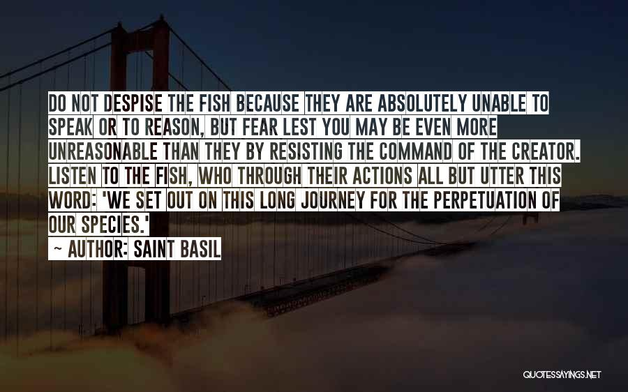 Not Resisting Quotes By Saint Basil