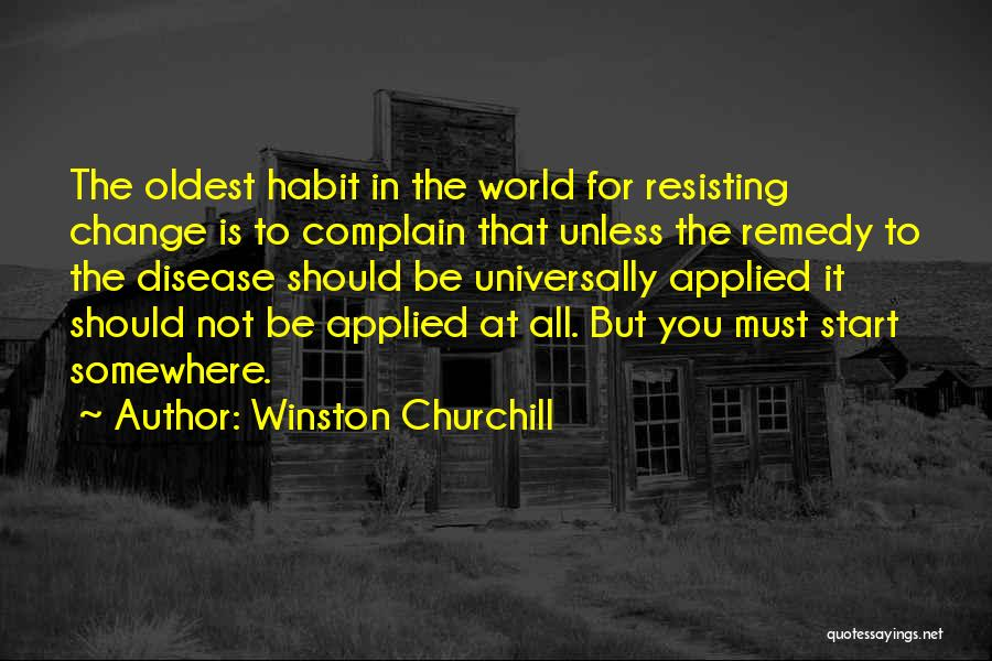 Not Resisting Quotes By Winston Churchill