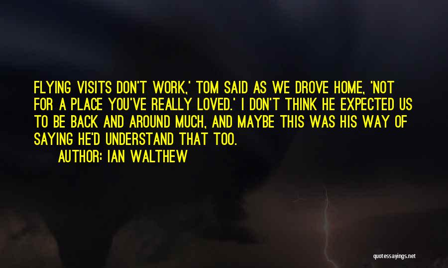 Not Saying Too Much Quotes By Ian Walthew