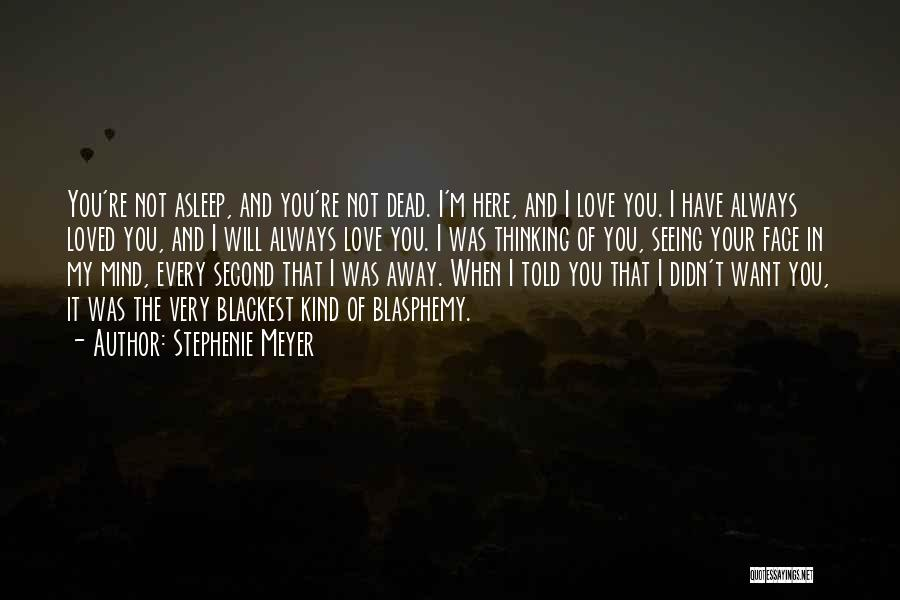 Not Seeing Your Love Quotes By Stephenie Meyer