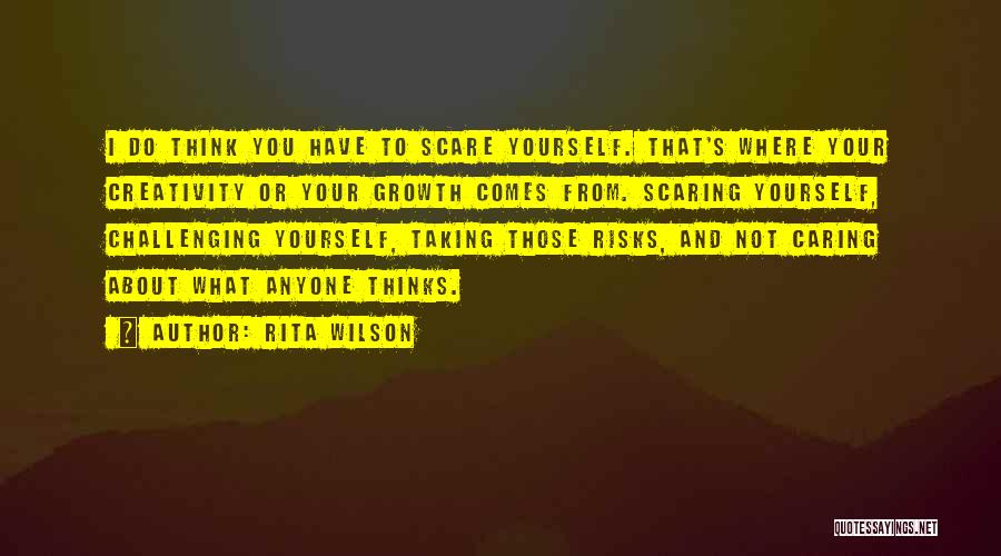 Not Taking Risks Quotes By Rita Wilson