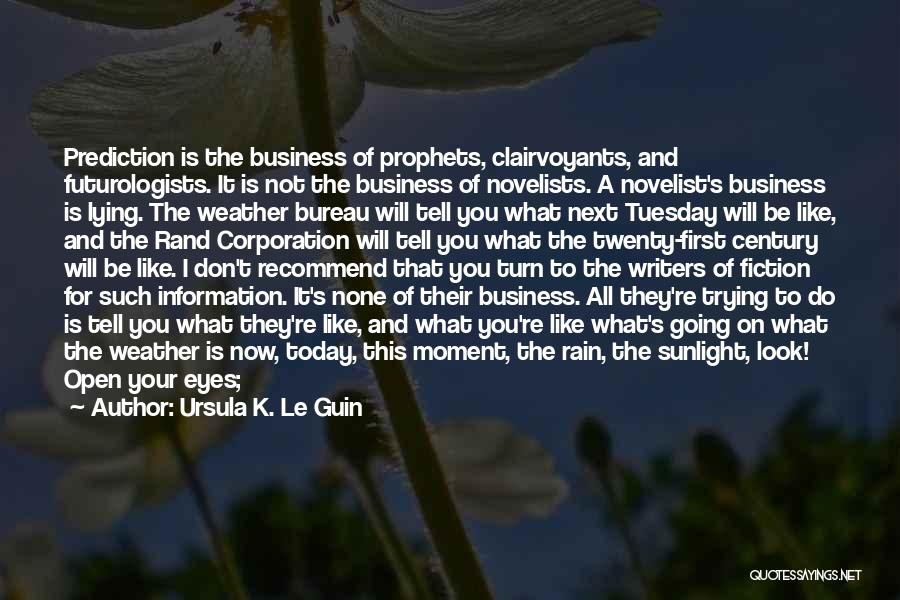 Not Telling Your Business Quotes By Ursula K. Le Guin