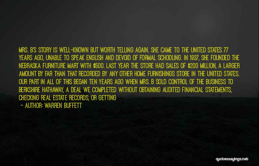 Not Telling Your Business Quotes By Warren Buffett