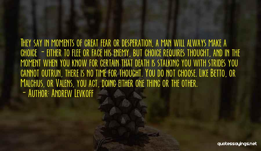 Not To Fear Death Quotes By Andrew Levkoff