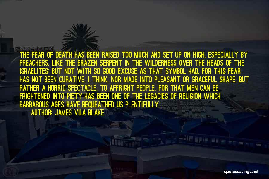 Not To Fear Death Quotes By James Vila Blake