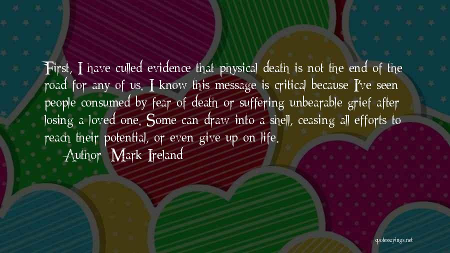 Not To Fear Death Quotes By Mark Ireland