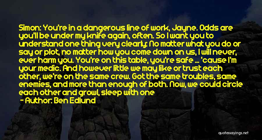 Not Trusting Someone Again Quotes By Ben Edlund