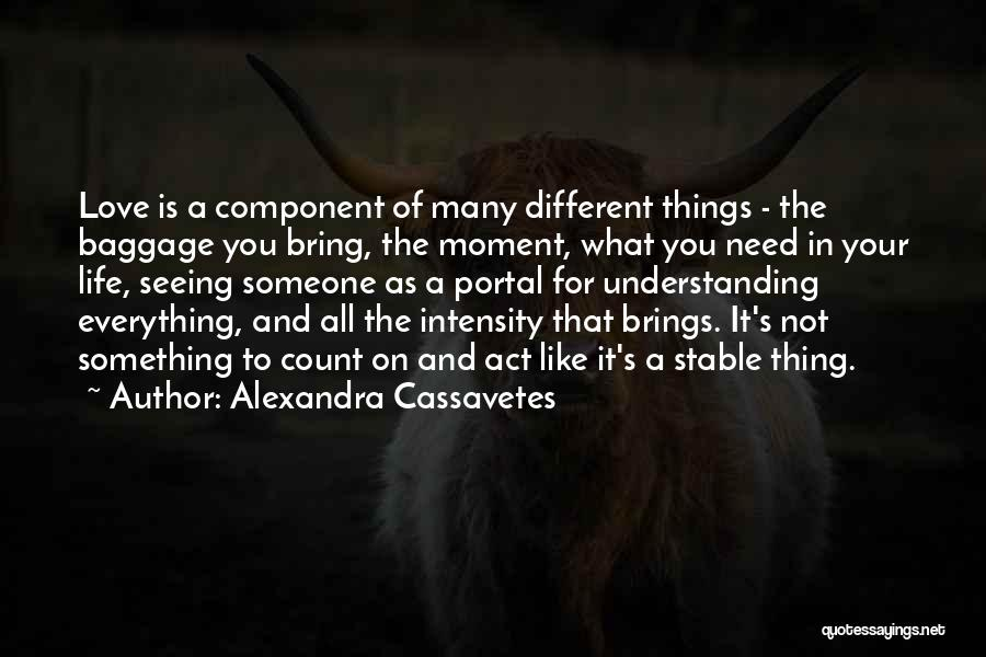 Not Understanding Love Quotes By Alexandra Cassavetes