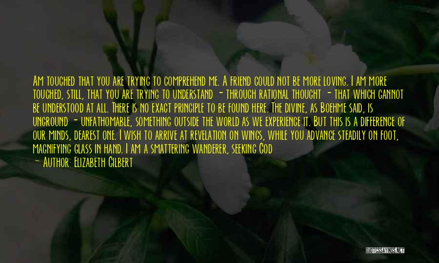 Not Understanding Love Quotes By Elizabeth Gilbert