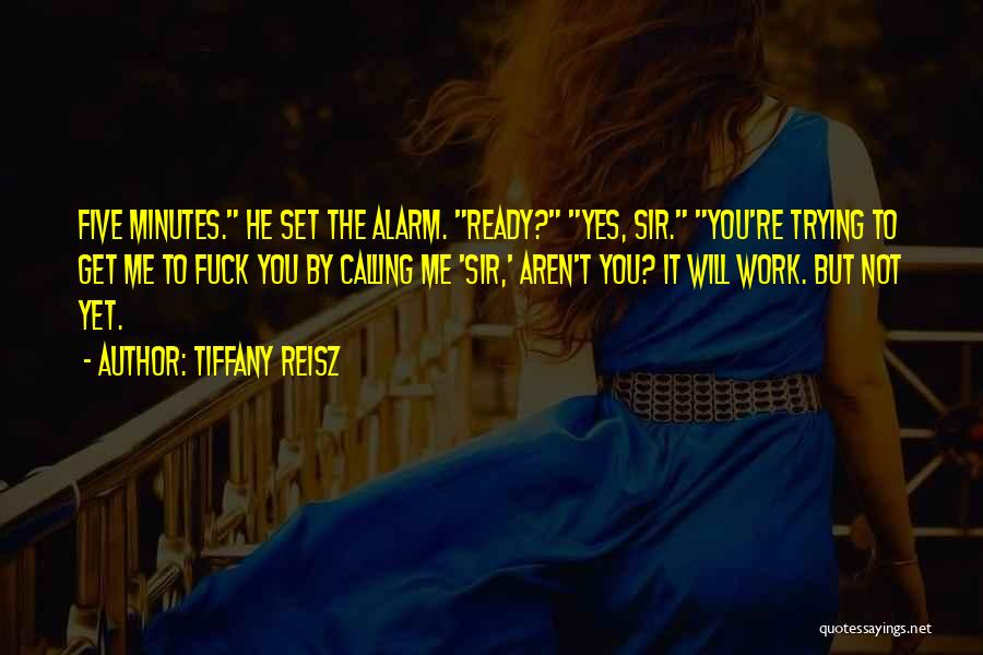 Not Yet Ready Quotes By Tiffany Reisz
