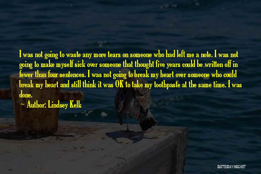 Note Myself Quotes By Lindsey Kelk