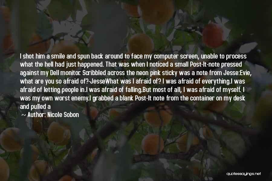 Note Myself Quotes By Nicole Sobon
