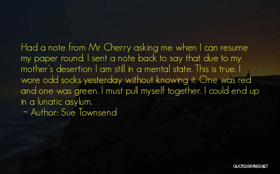 Note Myself Quotes By Sue Townsend