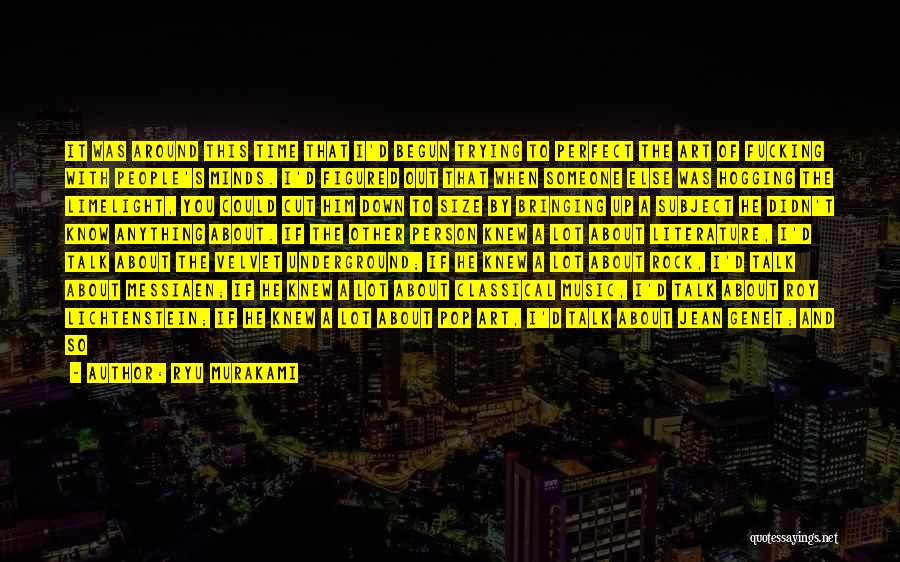 Nothing Bringing Me Down Quotes By Ryu Murakami