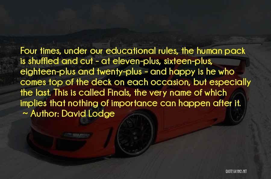 Nothing Can Happen Quotes By David Lodge