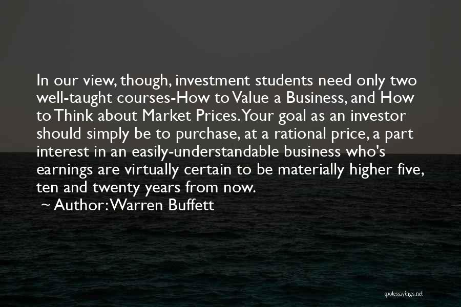 Nothing Comes Easily Quotes By Warren Buffett