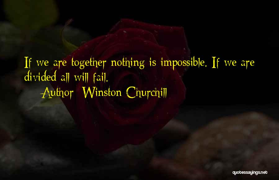 Nothing Is Impossible Inspirational Quotes By Winston Churchill