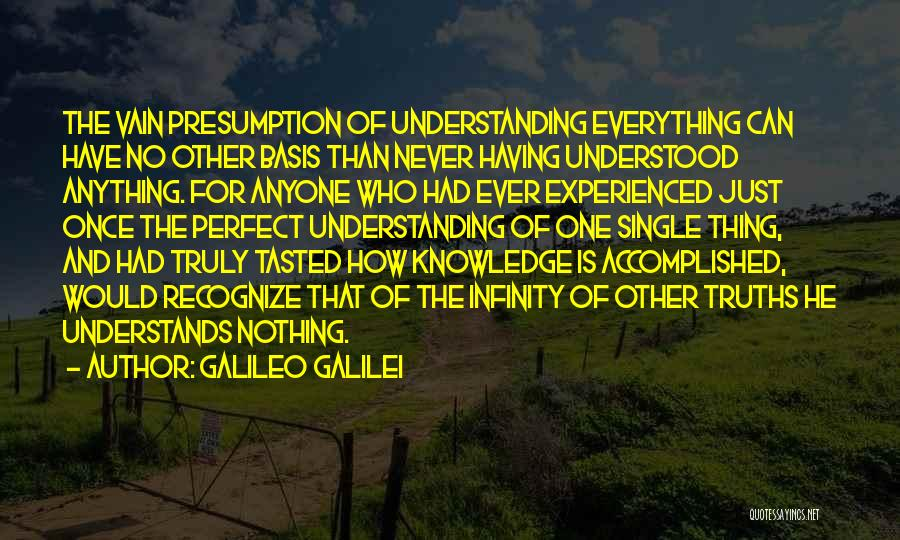Nothing Is Never Perfect Quotes By Galileo Galilei
