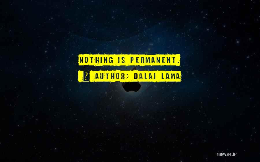 Nothing Is Permanent Quotes By Dalai Lama