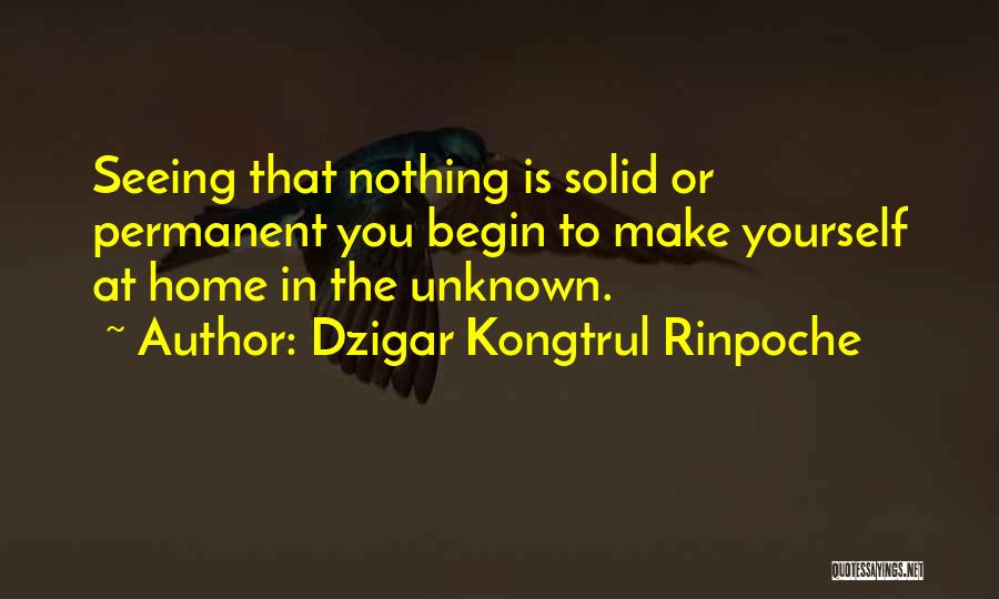 Nothing Is Permanent Quotes By Dzigar Kongtrul Rinpoche