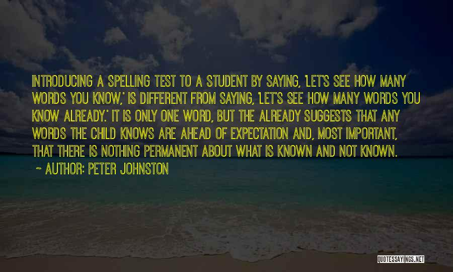 Nothing Is Permanent Quotes By Peter Johnston