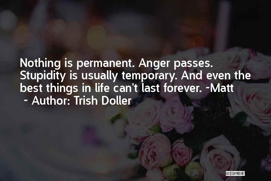 Nothing Is Permanent Quotes By Trish Doller