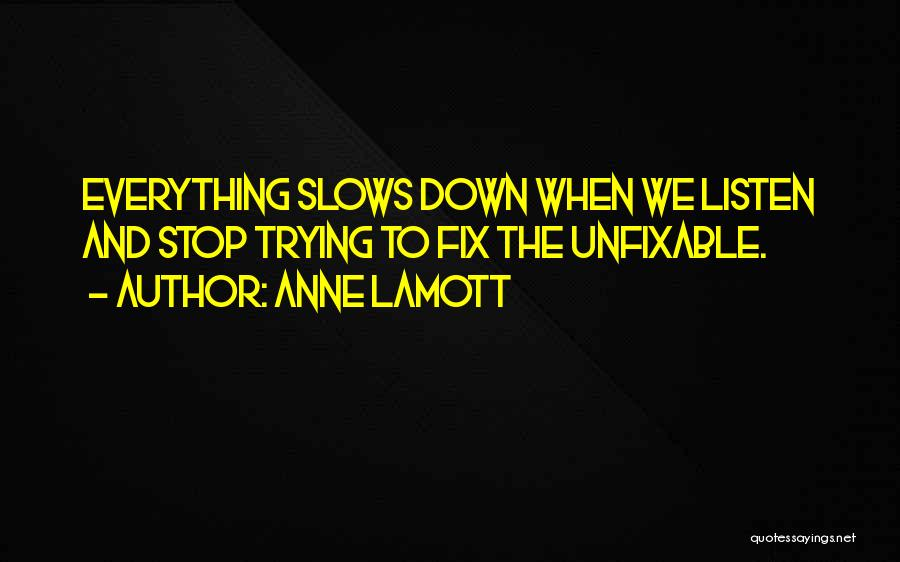 Nothing Is Unfixable Quotes By Anne Lamott
