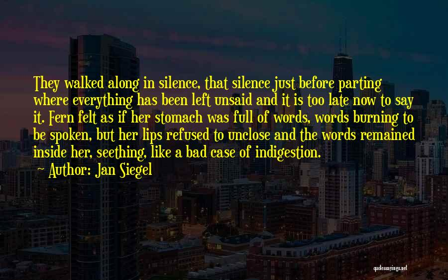 Nothing Left Unsaid Quotes By Jan Siegel