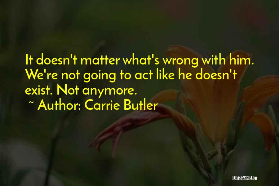 Nothing Matter Anymore Quotes By Carrie Butler