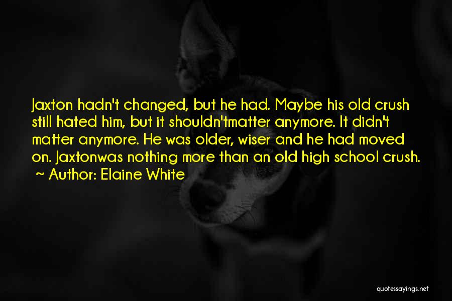 Nothing Matter Anymore Quotes By Elaine White