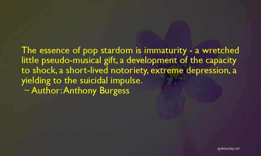 Notoriety Quotes By Anthony Burgess