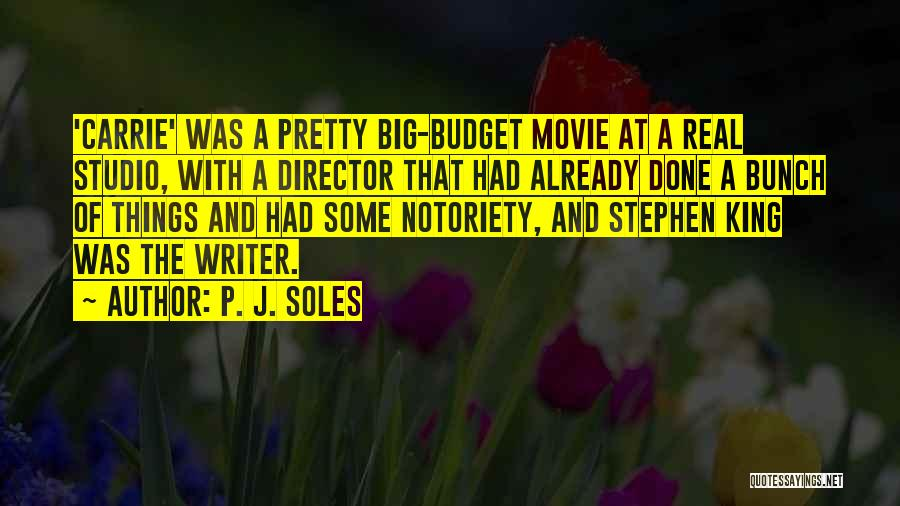 Notoriety Quotes By P. J. Soles