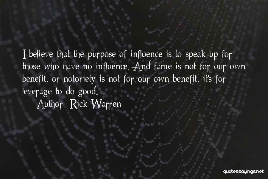 Notoriety Quotes By Rick Warren