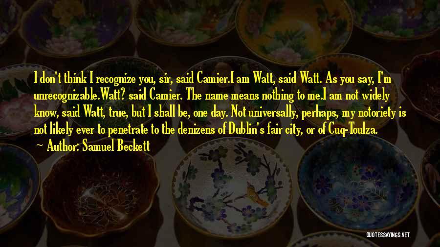 Notoriety Quotes By Samuel Beckett
