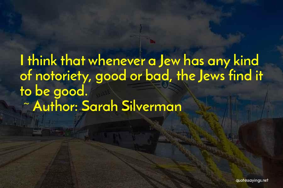 Notoriety Quotes By Sarah Silverman