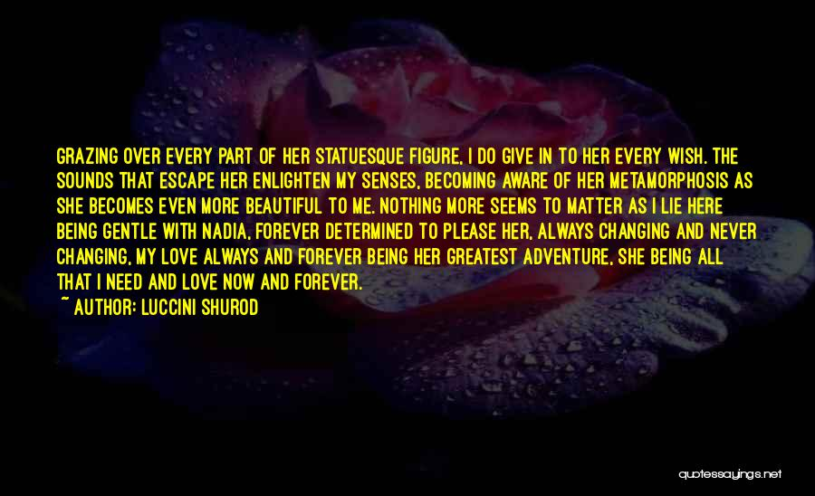 Now And Forever Quotes By Luccini Shurod