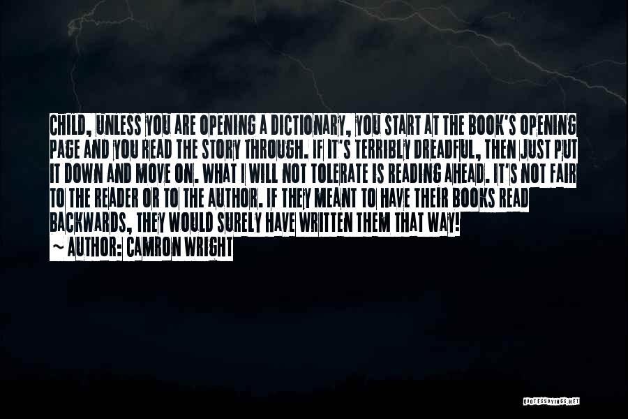 Now Read It Backwards Quotes By Camron Wright