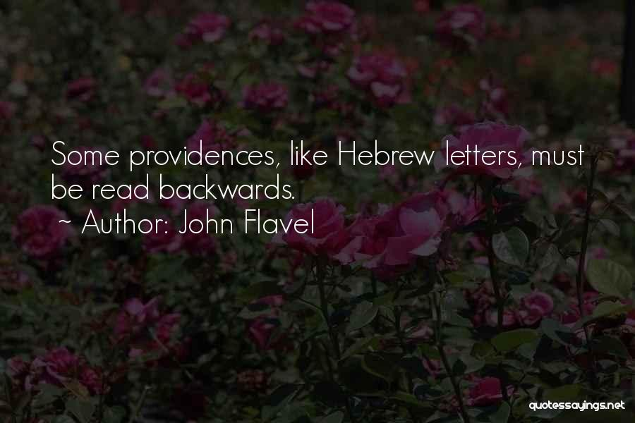 Now Read It Backwards Quotes By John Flavel