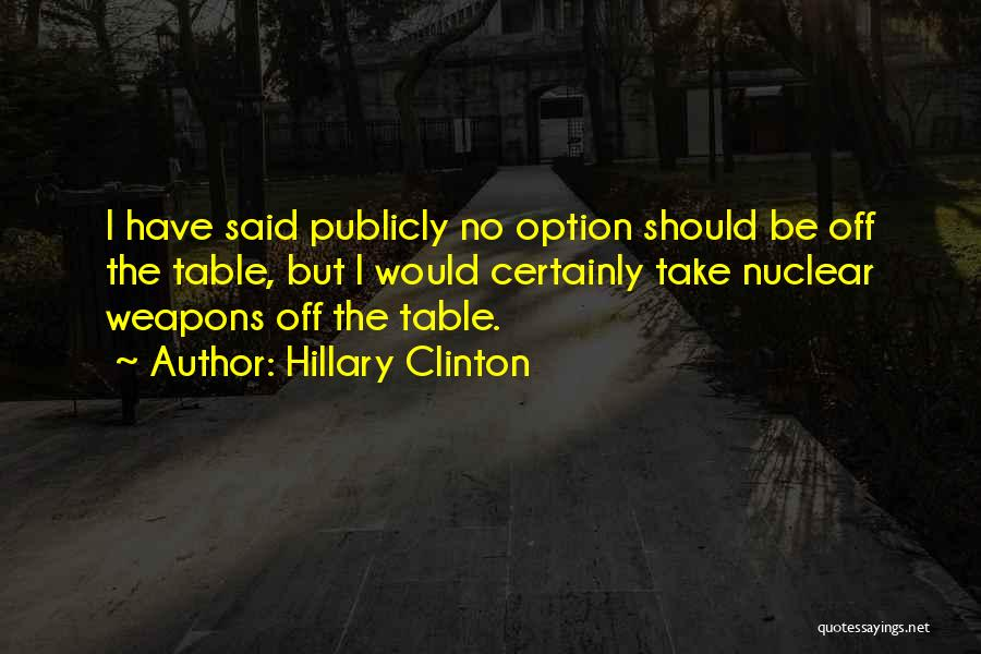 Nuclear Quotes By Hillary Clinton