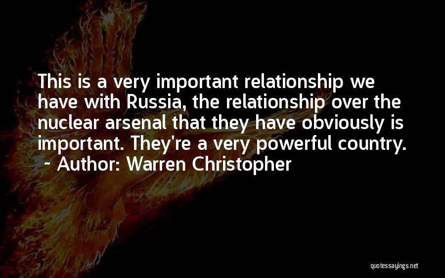 Nuclear Quotes By Warren Christopher