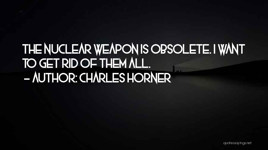 Nuclear Weapon Quotes By Charles Horner