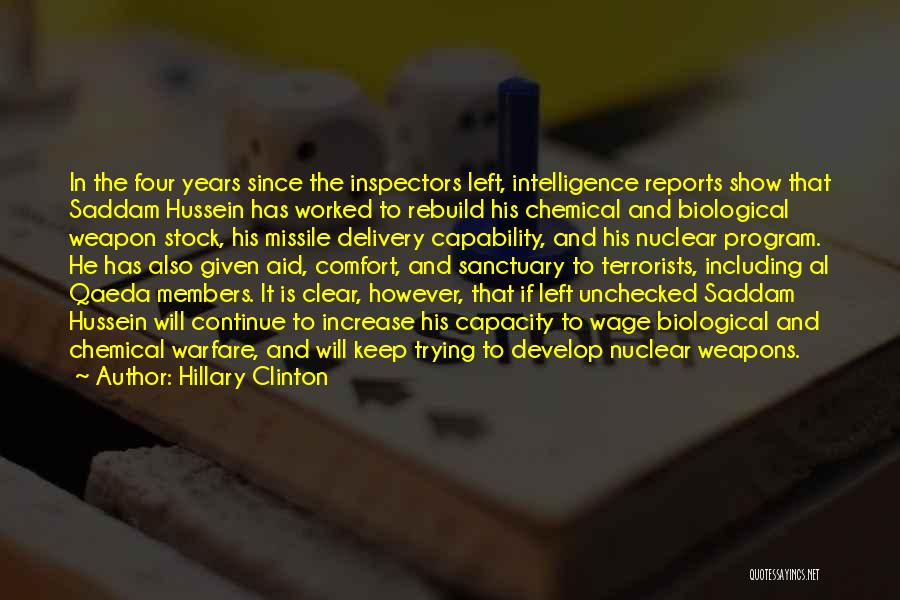 Nuclear Weapon Quotes By Hillary Clinton